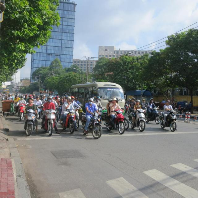 Motorcycles everywhere!