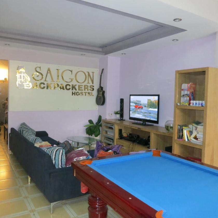 The hostel's lobby