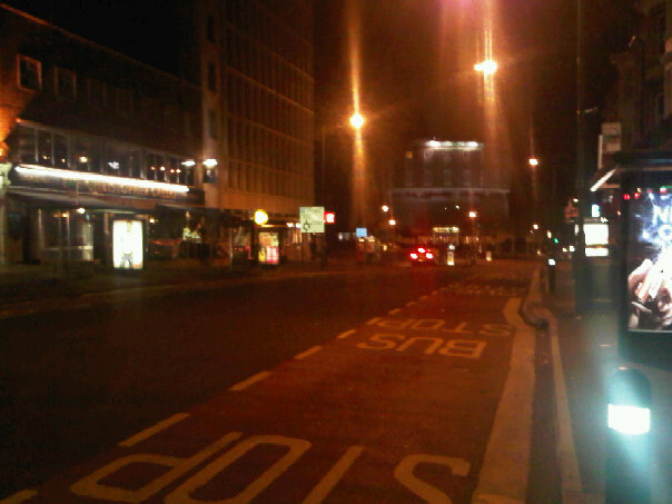 Empy town centre. I remember this was taken at around 8pm! :o