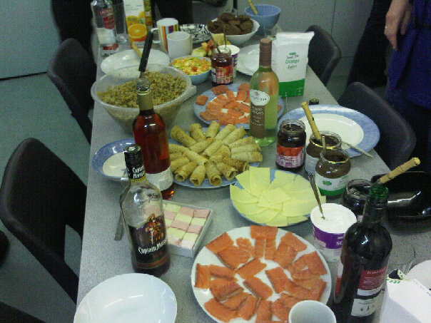 Russian Food Night at my friend's dorm! How cool was that? :D